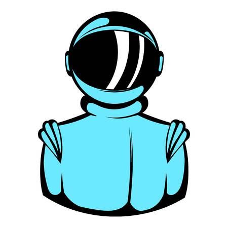 Astronaut in spacesuit icon, icon cartoon Illustration