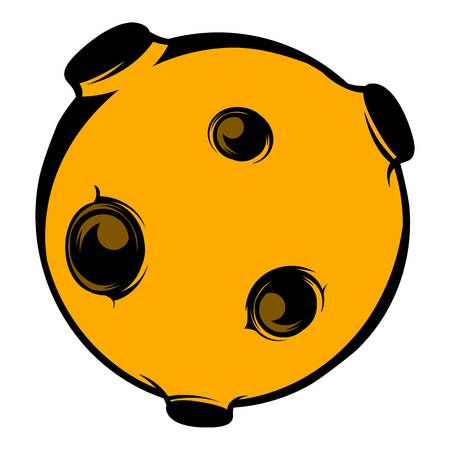 Moon icon, icon cartoon Illustration