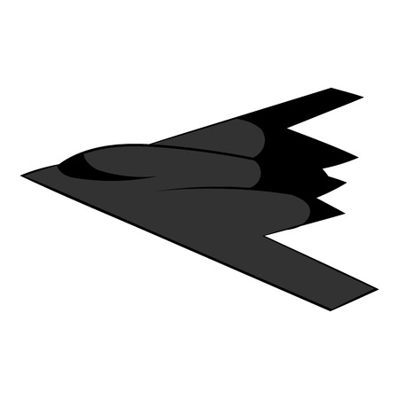 Stealth bomber icon, icon cartoon