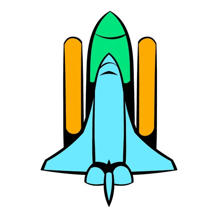 Space shuttle icon, icon cartoon Illustration