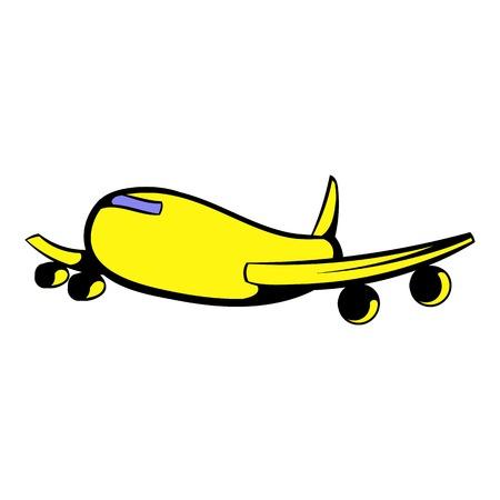 pilot  cockpit: Passenger airliner icon, icon cartoon