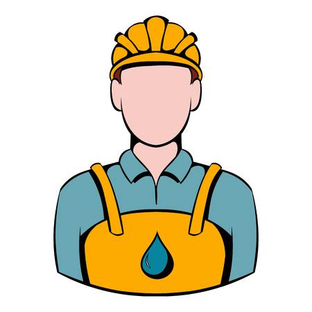 Oilman icon, icon cartoon