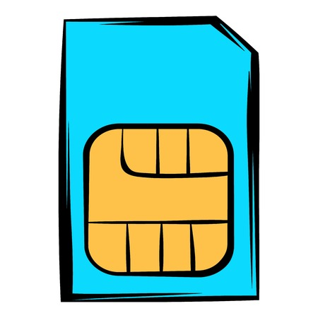 smart card: Sim card icon, icon cartoon