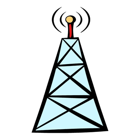 Cell phone tower icon, icon cartoon