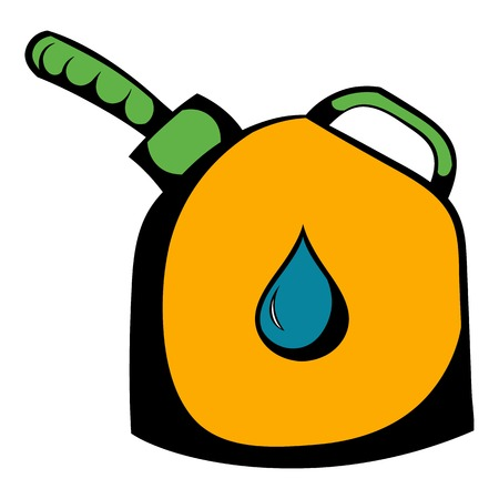 Jerrycan with flexi pipe spout icon, icon cartoon Illustration