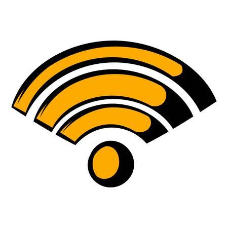 Wireless network icon, icon cartoon