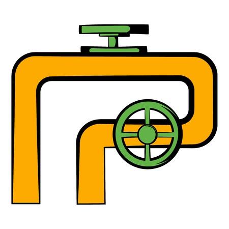 Pipeline with valve and handwheel icon
