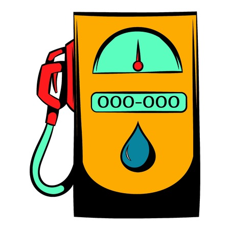 oil and gas industry: Gas station icon, icon cartoon