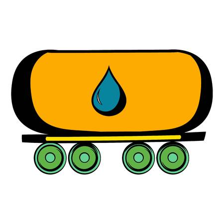 oil and gas industry: Oil tank icon, icon cartoon