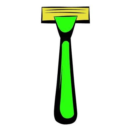 Icône de rasoir de rasage, icône de dessin animé