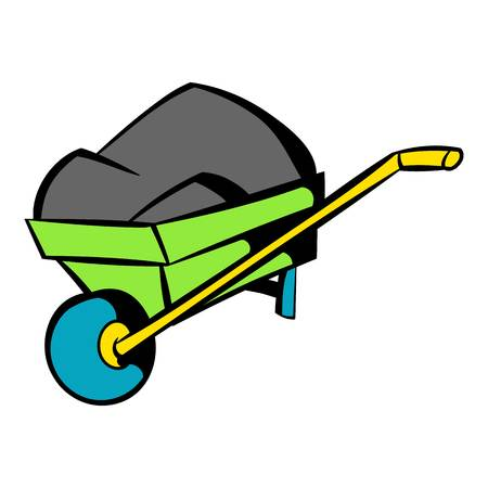 Unicycle trolley icon, icon cartoon