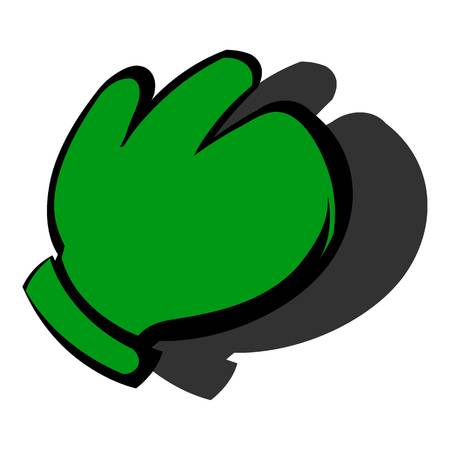Work glove icon, icon cartoon