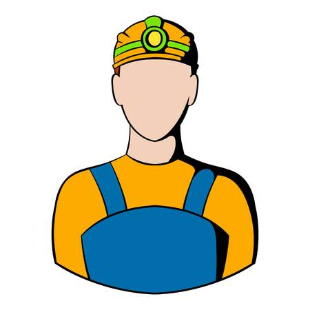 Coal miner icon, icon cartoon