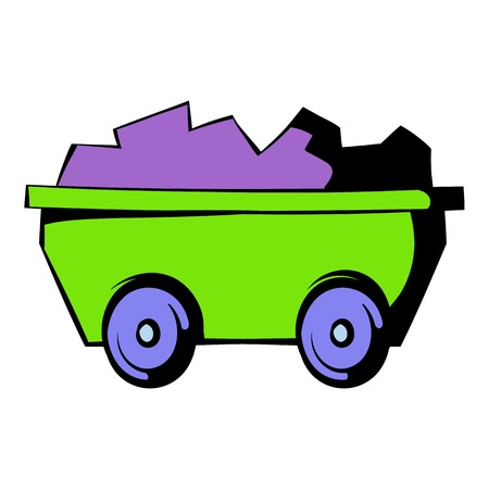 Trolley icon, icon cartoon