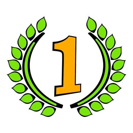 Laurel wreath icon, icon cartoon