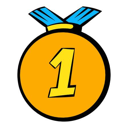 Medal icon, icon cartoon