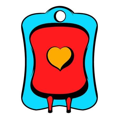 Donate blood icon, icon cartoon