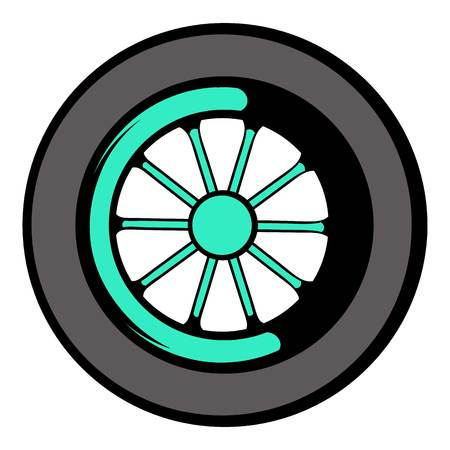 ring road: Car wheel icon, icon cartoon