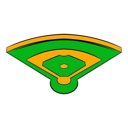 Baseball field icon, icon cartoon