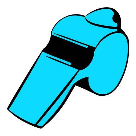 Blue whistle icon, icon cartoon Illustration