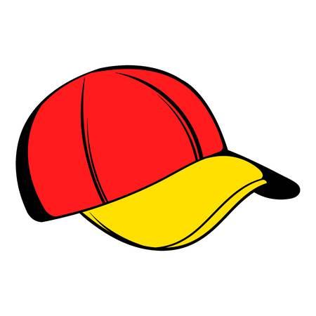 Baseball cap icon, icon cartoon Illustration