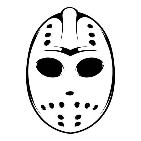 Hockey mask icon, icon cartoon