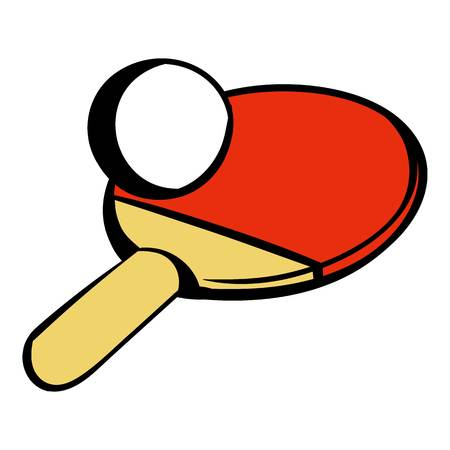 Racket for playing table tennis icon, icon cartoon