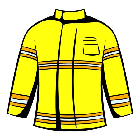 Firefighter jacket icon, icon cartoon
