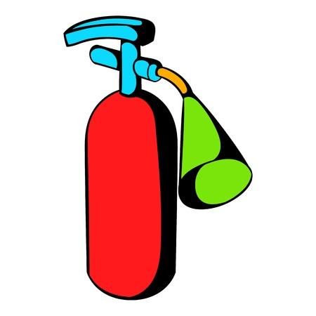 suppression: Fire extinguisher icon, icon cartoon