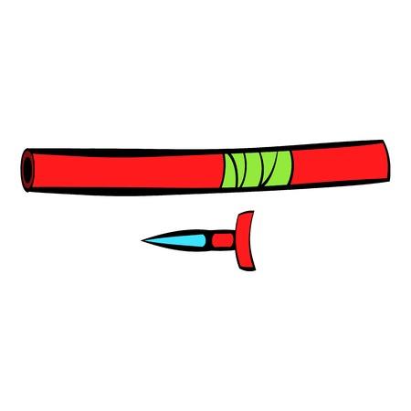 Ninja weapon icon, icon cartoon