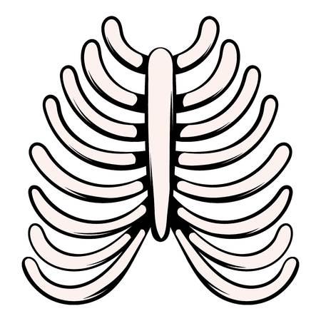 Human rib cage icon, icon cartoon