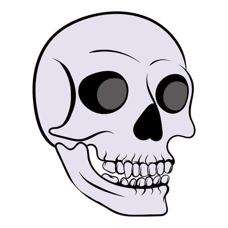 Human skull icon, icon cartoon
