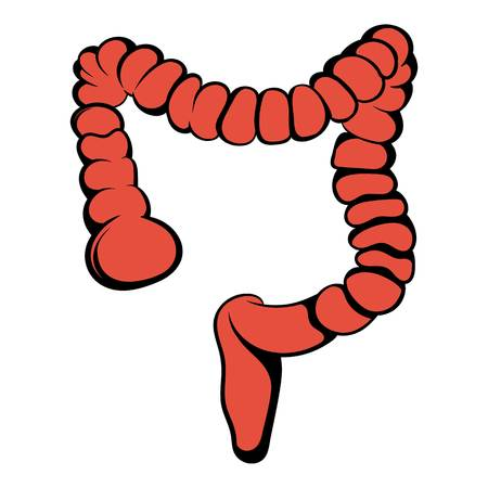 Human colon icon, icon cartoon Иллюстрация