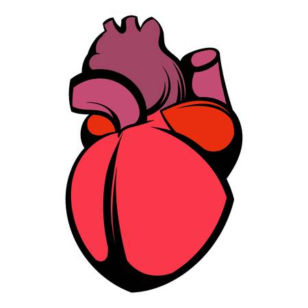 Human heart icon, icon cartoon