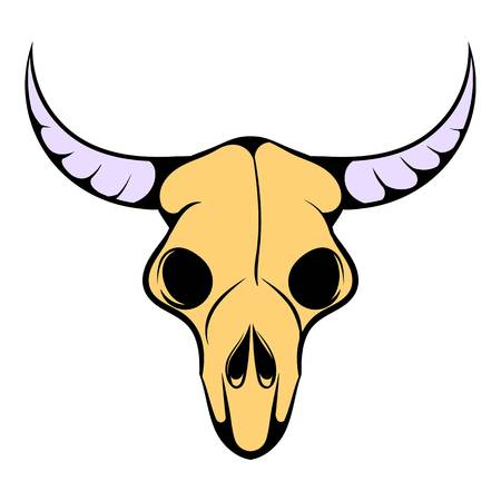 midwest: Buffalo skull icon, icon cartoon