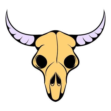Buffalo skull icon, icon cartoon