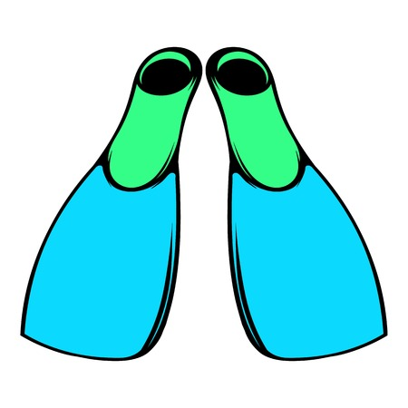 Blue flippers icon, icon cartoon Illustration