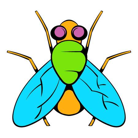 Insect fly icon, icon cartoon Illustration