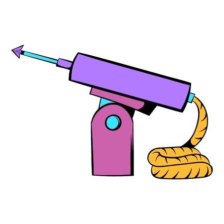 speargun: Fishing speargun icon, icon cartoon