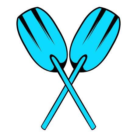 Paddle icon, icon cartoon Illustration
