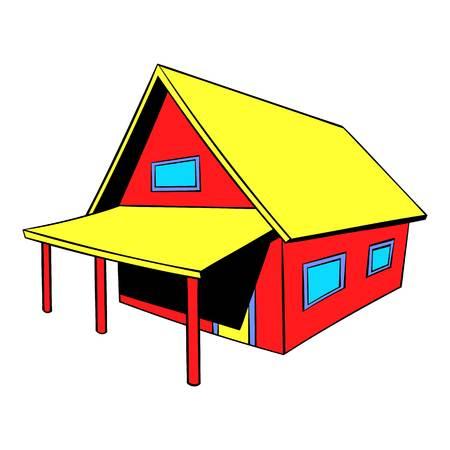 Small cottage icon, icon cartoon Illustration