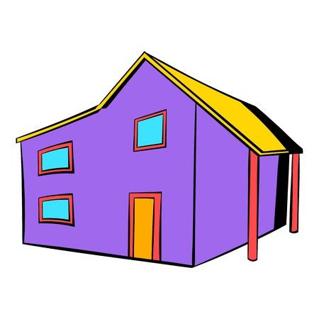 Two-storey house icon, icon cartoon Illustration