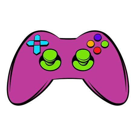 Video game controller icon, icon cartoon