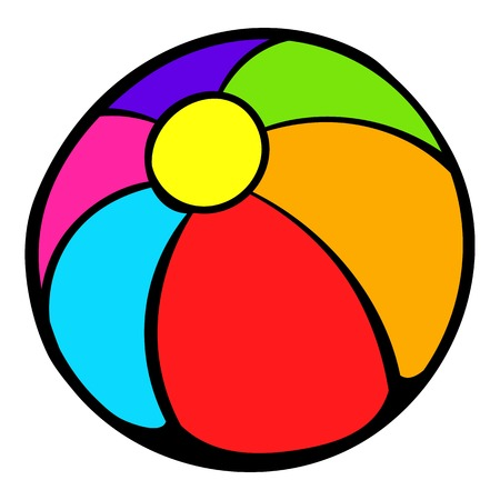 game of pool: Colorful ball icon, icon cartoon Illustration