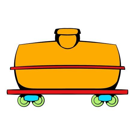 Railroad tank icon, icon cartoon