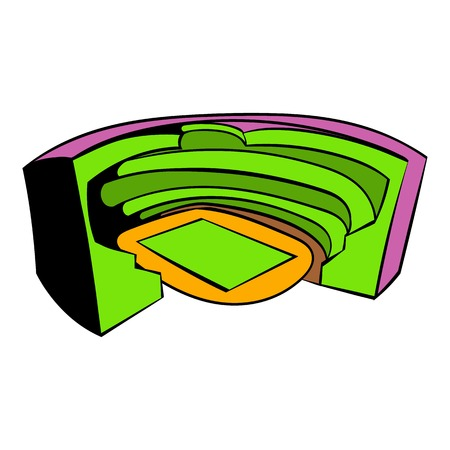 Football soccer stadium icon, icon cartoon