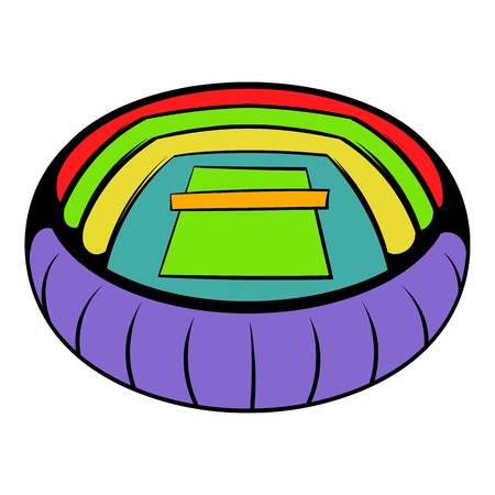 Tennis stadium icon, icon cartoon Illustration