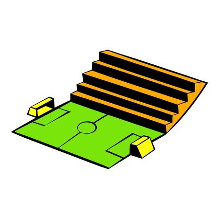 Soccer stadium icon, icon cartoon Illustration