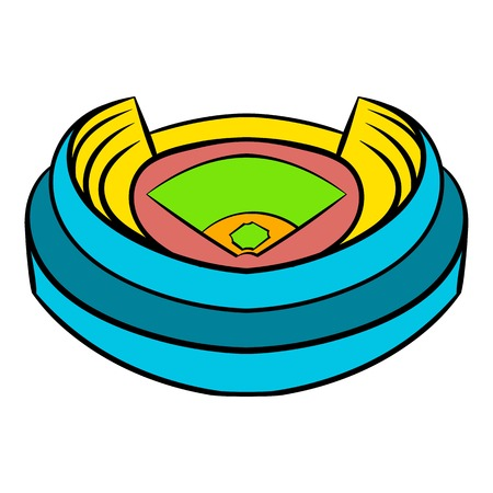 Baseball stadium icon, icon cartoon