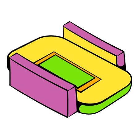 Stadium icon in icon cartoon Illustration